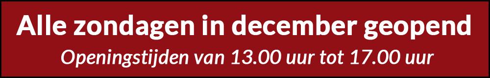 zondagen geopend in december